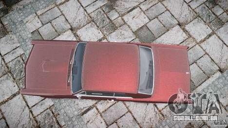Pontiac GTO 1965 para GTA 4 vista superior