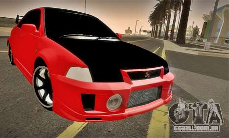 Mitsubishi Lancer Evolution 6 para GTA San Andreas vista superior