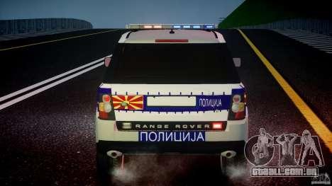 Range Rover Macedonian Police [ELS] para GTA 4 rodas