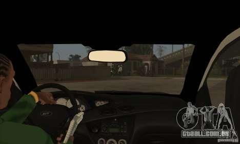 Ford Focus SVT para GTA San Andreas vista interior