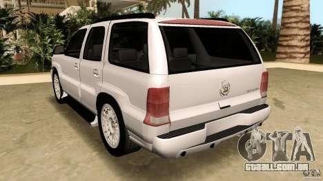 Cadillac Escalade para GTA Vice City vista lateral