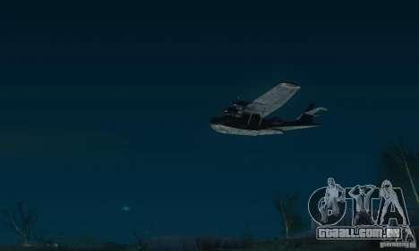 PBY Catalina para GTA San Andreas traseira esquerda vista