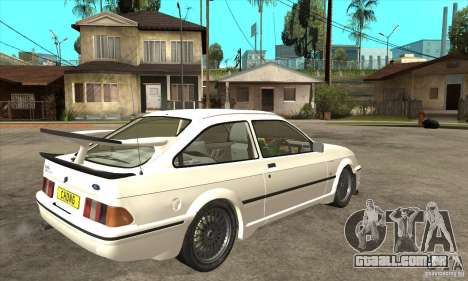 Ford Sierra RS500 Cosworth 1987 para GTA San Andreas vista interior