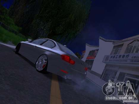 BMW 335i F30 Coupe para GTA San Andreas esquerda vista