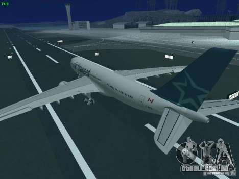 Airbus A330-200 Air Transat para GTA San Andreas vista superior