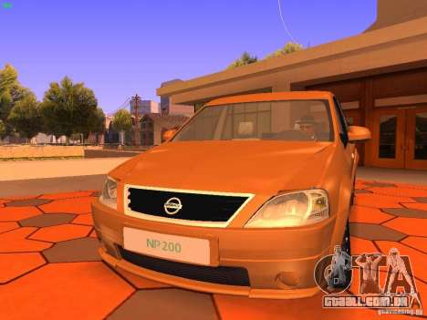 Nissan NP200 para GTA San Andreas esquerda vista