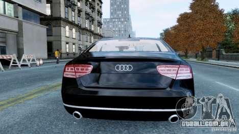 Audi A8 LED 2012 para GTA 4 vista direita