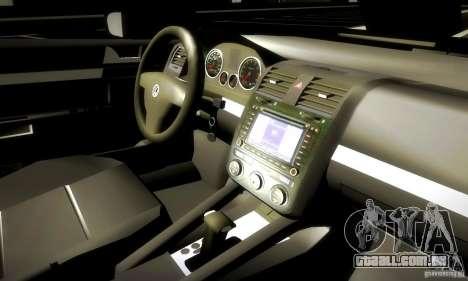 Volkswagen Golf Police para GTA San Andreas vista interior