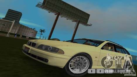 BMW 5S Touring E39 para GTA Vice City vista traseira esquerda