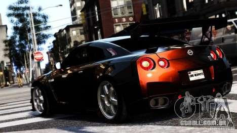 Nissan GT-R R35 SpecV 2010 para GTA 4 esquerda vista