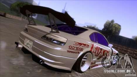 Nissan 150SX Drift para GTA San Andreas traseira esquerda vista