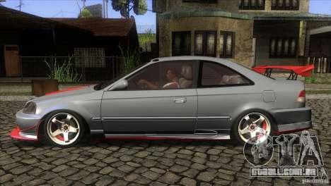 Honda Civic SI para GTA San Andreas esquerda vista