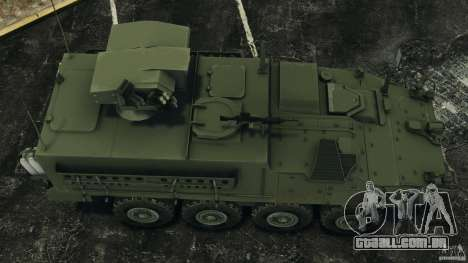 Stryker M1134 ATGM v1.0 para GTA 4 vista direita