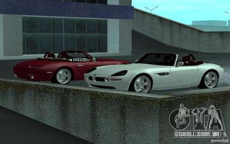 BMW Z8 para GTA San Andreas vista traseira