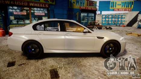 BMW M5 F10 2012 para GTA 4 vista interior