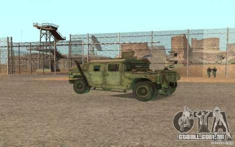 Hummer Spec Ops The Line para GTA San Andreas vista direita