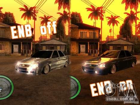Lada Priora Dag Style para GTA San Andreas vista traseira