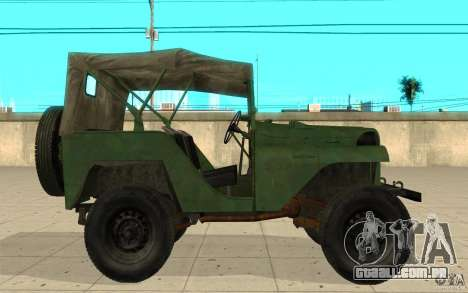 Gaz-64 pele 1 para GTA San Andreas esquerda vista