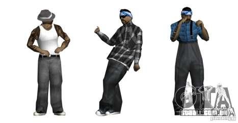 Nova pele Pack para Rifa gang para GTA San Andreas