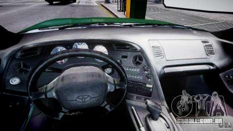 Toyota Supra MKIV 1995 v2.0 Final para GTA 4 vista de volta
