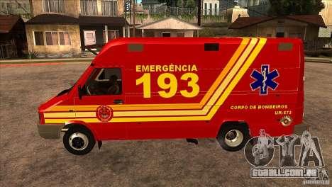 Iveco Daily UR Bombeiros SP para GTA San Andreas esquerda vista
