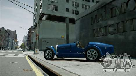 Bugatti Type 35C para GTA 4 esquerda vista