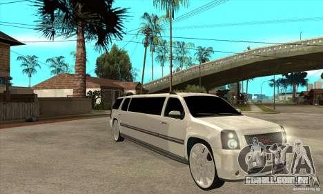 GMC Yukon 2008 para GTA San Andreas vista traseira