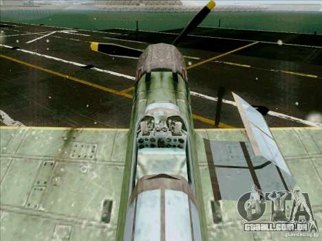 Aviões japoneses para GTA San Andreas vista interior