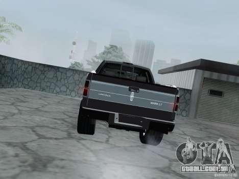 Lincoln Mark LT 2013 para GTA San Andreas vista direita