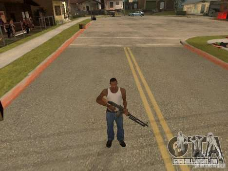 Light Machine Gun Dâgterëva para GTA San Andreas sexta tela