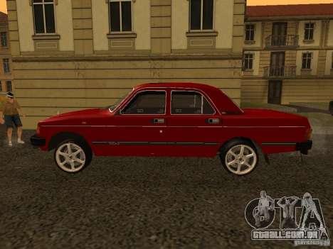 Volga GAZ 31029 Sl para GTA San Andreas traseira esquerda vista