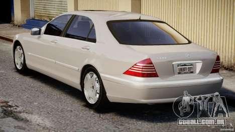 Mercedes-Benz W220 para GTA 4 vista lateral