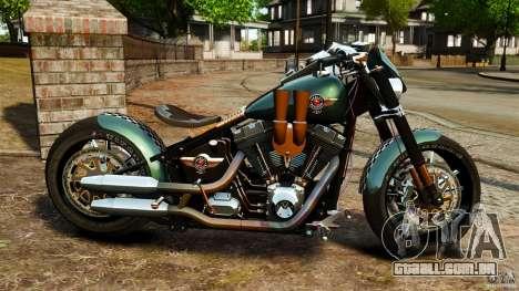 Harley Davidson Fat Boy Lo Racing Bobber para GTA 4 esquerda vista