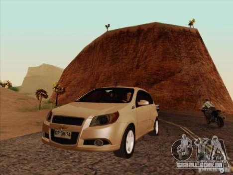 Chevrolet Aveo LT para GTA San Andreas vista interior