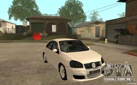 Volkswagen Jetta 2008 para GTA San Andreas vista traseira