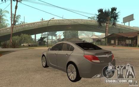 Opel Insignia 2010 para GTA San Andreas traseira esquerda vista