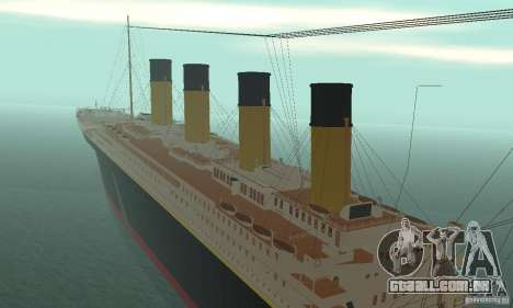 RMS Titanic para GTA San Andreas vista interior
