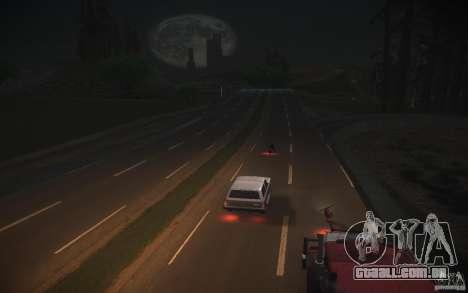 Estrada de HD v 2.0 Final para GTA San Andreas por diante tela