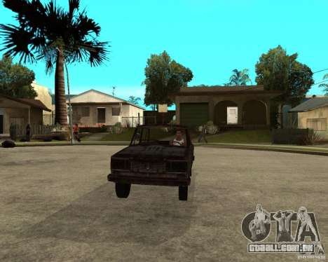 VAZ-2106 para GTA San Andreas vista traseira