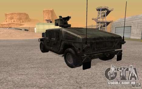 Hummer H1 from Battlefield 3 para GTA San Andreas vista direita