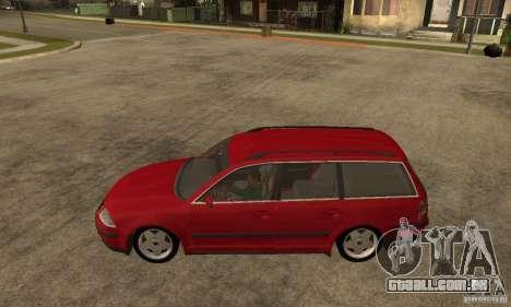 VW Passat B5 Variant para GTA San Andreas esquerda vista