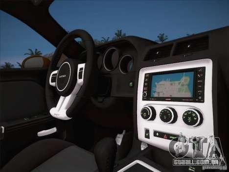 Dodge Challenger SRT8 2010 para vista lateral GTA San Andreas