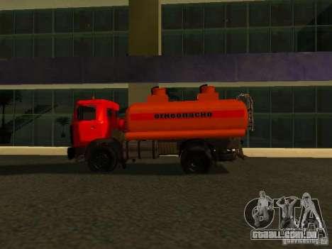 MAZ caminhão para GTA San Andreas esquerda vista