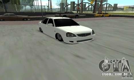Lada Priora Low para GTA San Andreas esquerda vista