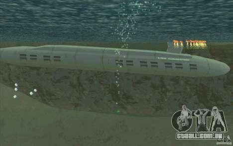 USS Submarine Beta para GTA San Andreas esquerda vista