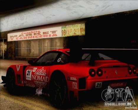 Ferrari 550 Maranello Super GT500 para GTA San Andreas vista direita