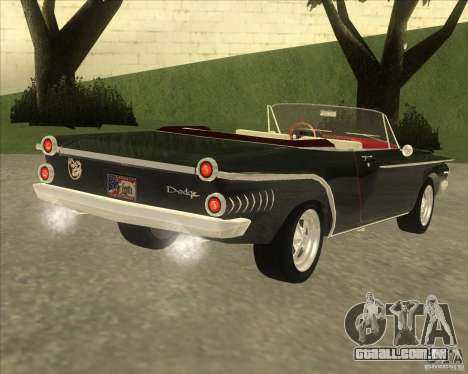 1962 Dodge Dart 440 para GTA San Andreas traseira esquerda vista