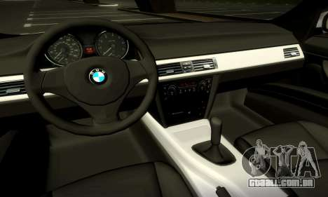 BMW 330 E90 para GTA San Andreas vista superior