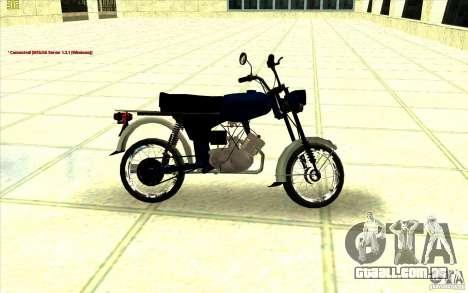 Ciclomotor: para GTA San Andreas traseira esquerda vista