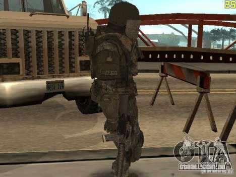 Combate de soldados de CoD: Mw2 para GTA San Andreas por diante tela